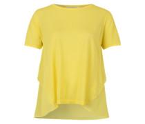 T-Shirt aus Materialmix 'Sandra' gelb