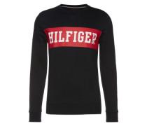 Sweatshirt mit Print anthrazit / rot