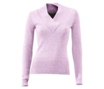 V-Pullover lila
