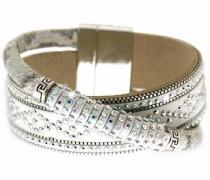 Armband 'Marisol' beige / silber / weiß
