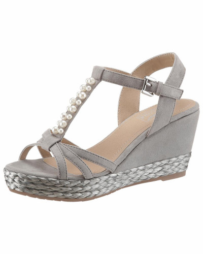 ARIZONA Damen Sandalette grau Verkaufsstelle Äußerst ciMlykKj