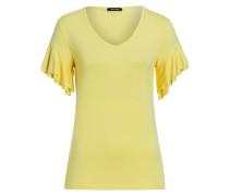 Shirt Volantärmel gelb