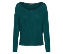 Pullover 'boxy Cropped' dunkelgrün