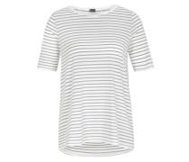 T-Shirt mit Seiden-Blende weiß
