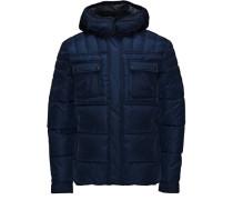 Wattierte Jacke blau