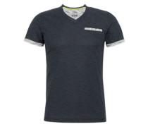 T-Shirt mit Brusttasche blau
