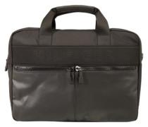Laptop-Tasche mit Logo-Design schwarz