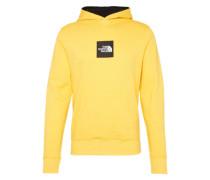 Sweatshirt 'M Fine Hoodie' gelb / schwarz
