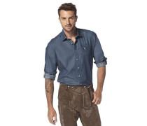 Trachtenhemd »Level 5 body fit« blau