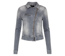 Bikerjacke aus Denim 'Ellen' grey denim