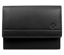Universe Geldbörse Leder 10 cm schwarz