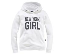 Kapuzensweatshirt für Mädchen weiß