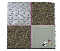 Tuch im Camouflage-Look grau / oliv