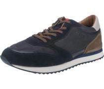 Sneaker »Edwin« taubenblau / braun