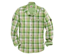 Trachtenhemd kariert grün / weiß