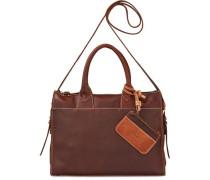 True-Born Handtasche Leder 32 cm braun