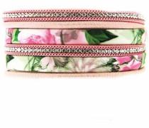 Armband »Solveig 6381« hellgrün / altrosa / silber / weiß