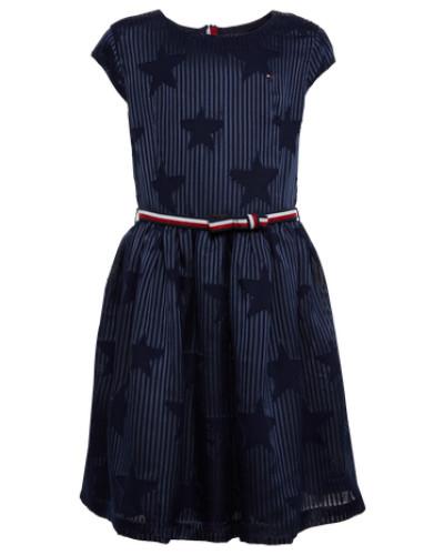 Kleid mit Sternen 'Devore' navy