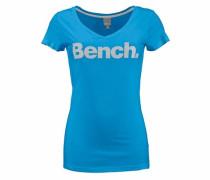 Print-Shirt blau