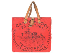 Shopper mit Logodruck rot