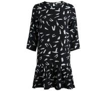 Kleid Bedrucktes schwarz