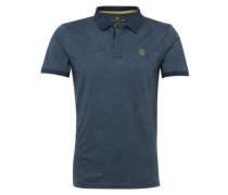 Gemustertes Polo-Shirt marine / gelb