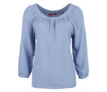 Blusenshirt mit weitem Ausschnitt hellblau