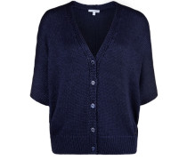 Strickjacke Cardigan Shine blau
