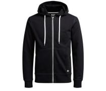 Sweatshirtjacke 'jorstorm Sweat ZIP Hood B' schwarz / weiß