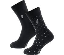 Socken 'Ida' schwarz / weiß