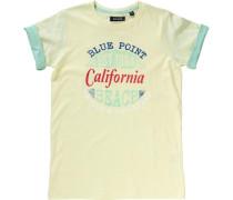 T-Shirt für Jungen dunkelblau / gelb / feuerrot