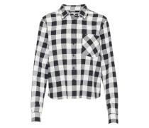 Bluse mit Karomuster schwarz / weiß