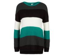 Pullover jade / schwarz / weiß
