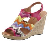 Sandalette in trendigen Ethno-Look mischfarben