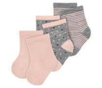 Socken 3er-Pack grau / rosa