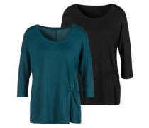 Shirt smaragd / schwarz