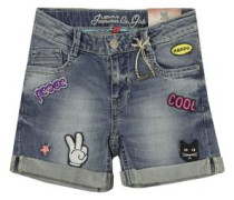 Shorts - MID blue denim