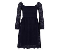 Skater-Kleid im Spitzen-Design nachtblau