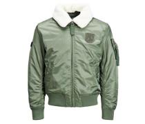 Borg-Jacke grün