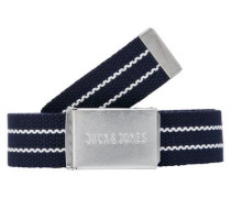 Klassischer Gürtel navy / weiß