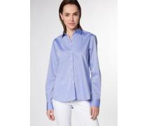 Langarm Bluse 'modern Classic' blau