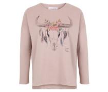 Sweater 'Bull flower' nude