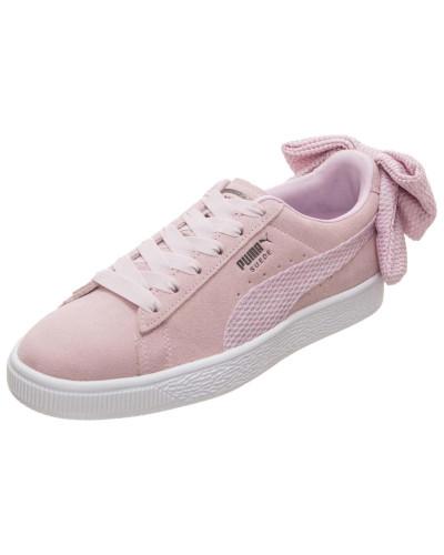 Sneaker 'Suede Bow' altrosa / weiß