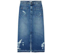 Rock ´thdw Repaired Denim Skirt 21 Lirr´ blau