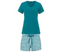 Shorts in klassischem Karo-Bund blau