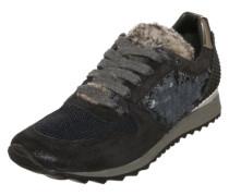 Sneaker im Metallic-Look dunkelblau