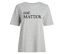 Print-T-Shirt graumeliert