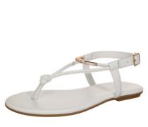 Sandale mit Zehensteg gold / weiß