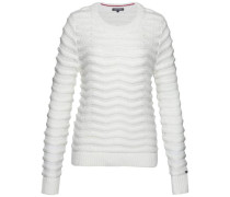 Pullover »Bedelia Crop Rope Swtr« weiß