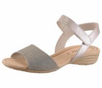 -Sandale rosegold / grau